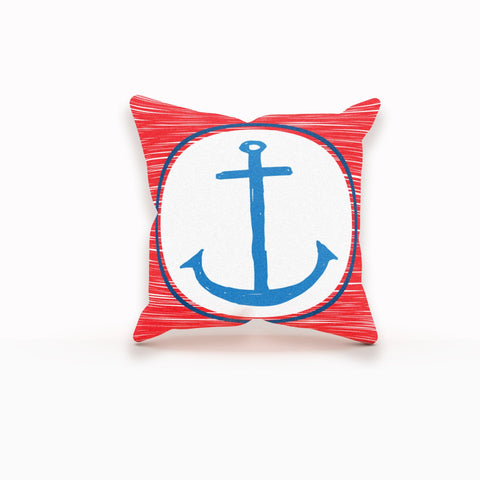 Anchor Pillow Cover, Nautical Pillow Cover, Anchor Pillow, Nautical Pillow Case