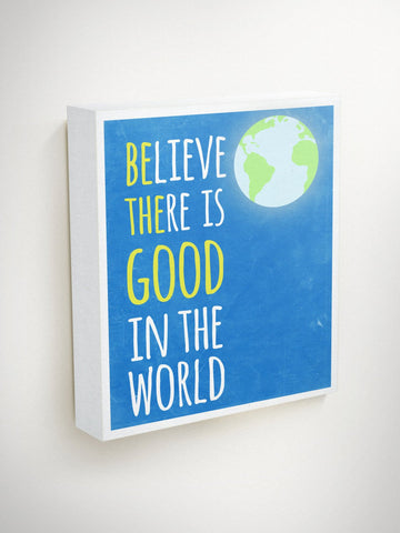 Be The Good Sign, Blue Canvas Art, Gifts For Teens, Graduation Gift, Believe There Is Good In The World, Gifts For Students, Volunteer Gifts