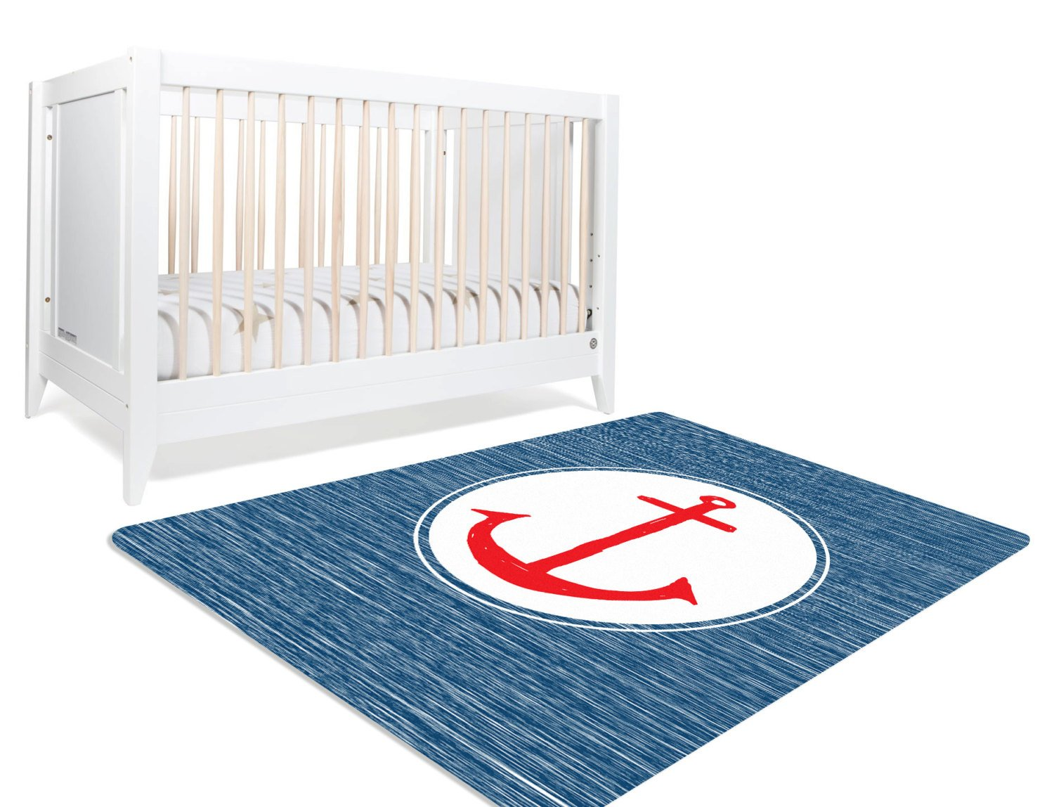 Setting Sail- Nautical Rug, Nautical Decor, Anchor Nursery Decor, Nautical Nursery Decor