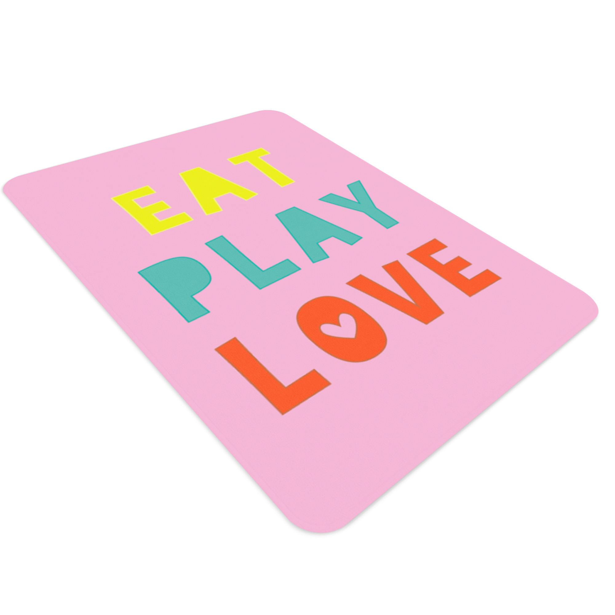Eat Play Love, Kids Room Rugs, Playroom Rug, Kitchen Rug