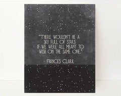 A Sky Full Of Stars - Inspirational Art - Inspirational Wall Quotes - Motivational Quote - Motivational Wall Decor -  Typography Wall Art