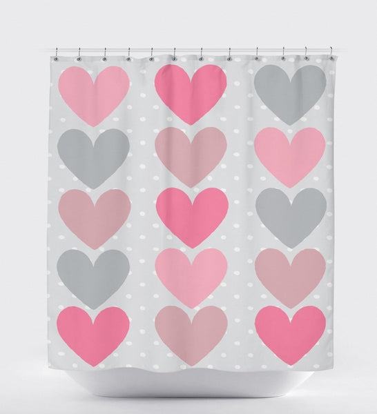 Colorful Shower Curtain, Shower Curtain Gray, Pattern Shower Curtain, Shower Art