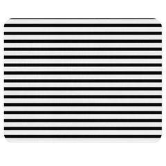 A classic black and white striped geometric rug. This rug is a timeless piece for your child's nursery and can be an integral part of your nursery.