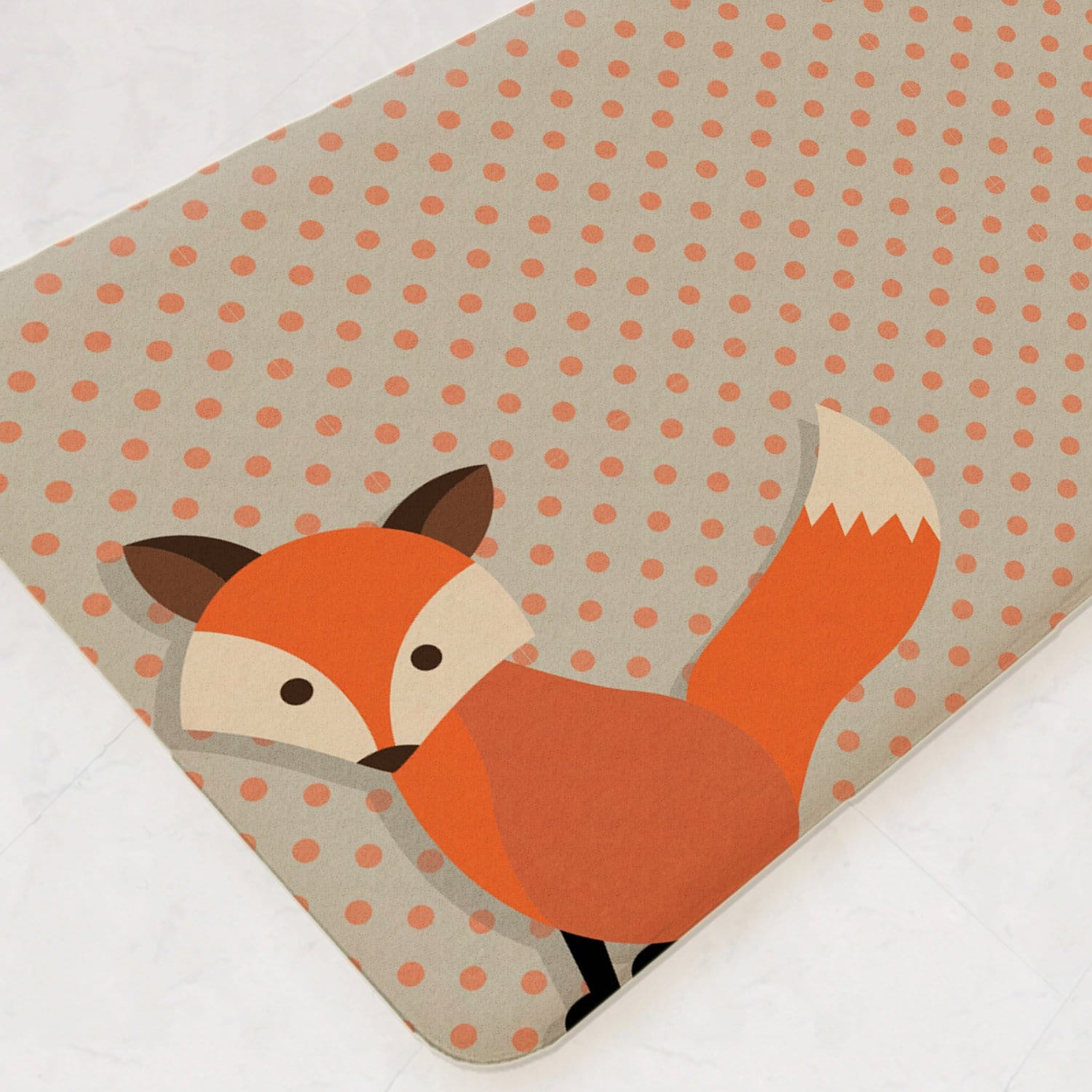 Fox Decor Fox Rug Kids Bathroom Decor Bath Mat Child Be Wild