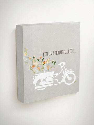 Life Is A Beautiful Ride, Life Quotes, Travel Quotes, Floral Wall Art, Christmas Wall Decor, New Home Gift, Inspirational Quote, Wall Art