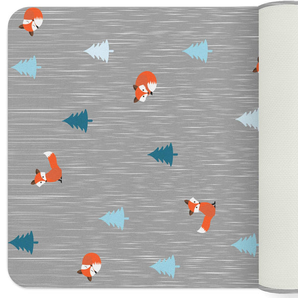 Woodland Rug, Fox Rug, Woodland Nursery Decor, Playroom Decor