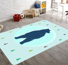Bear Rug, Woodland Nursery, Nursery Decor, Woodland Rug