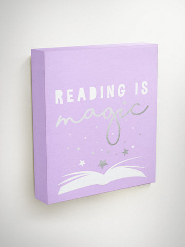 Reading is Magic, Library Decor, Reading Wall Art, Kids Wall, Classroom Decor, Inspirational Quote Art, Teacher Gifts, Gifts For Readers