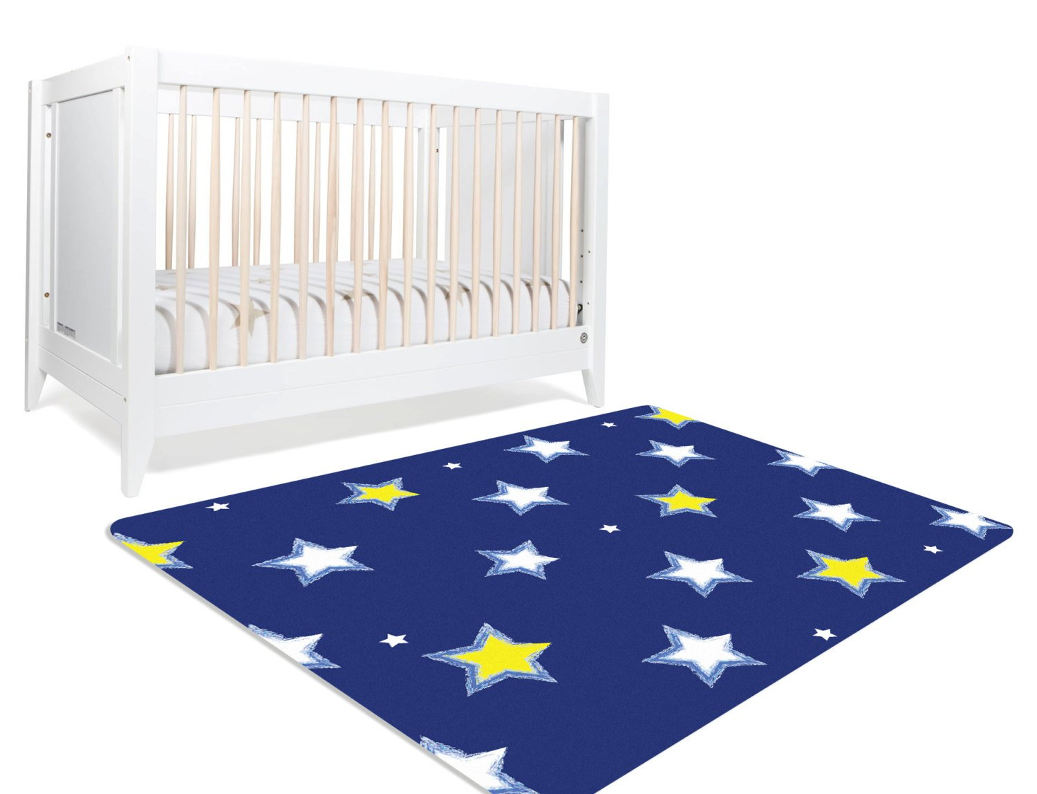 Star Nursery Decor - Navy Blue Nursery Decor - Boy Nursery Rug- Rugs For Nursery- Kids Room Rugs- Navy Blue Decor- Plush Rug- Christmas Rug