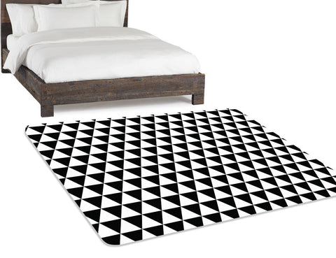 Area Rug 5x8, Black and White Rug, Geometric Rug, Modern Rug