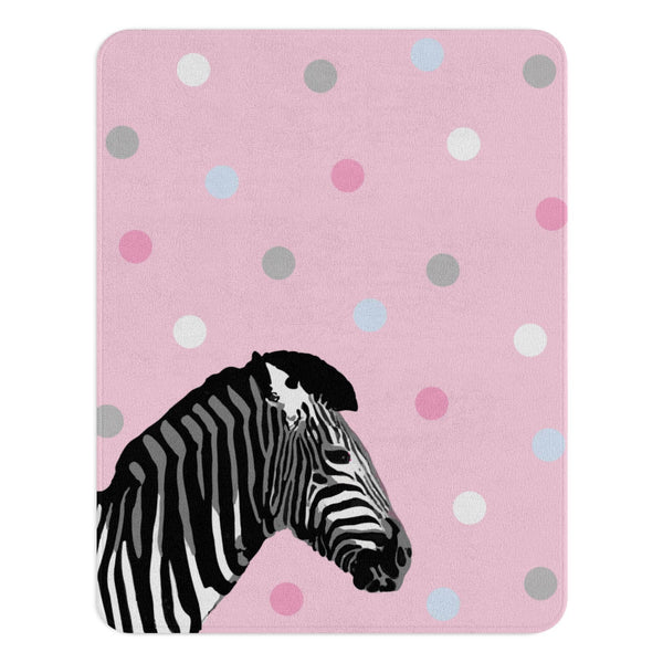 Zebra Rug, Pink Nursery Decor, Zoo Animal Nursery, Pink Rug