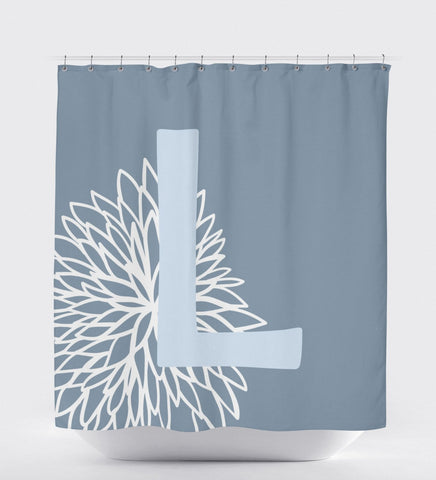 Shower Curtain Rustic, Shower Curtain Monogram,Shabby Chic Bathroom Decor, Floral Shower Curtain