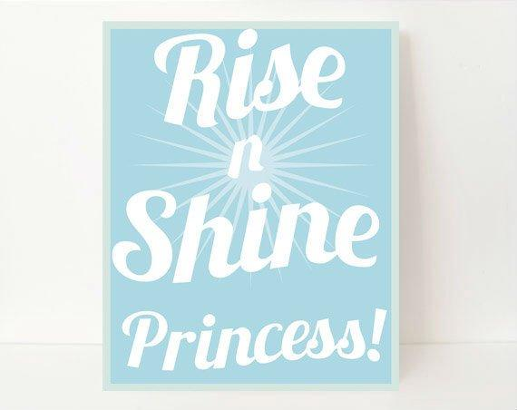Rise And Shine Sign, Motivational Print, Gift For Niece, Gift For Nephew, Inspirational Prints, New Mom Gift, Back To School, Gift For Kids