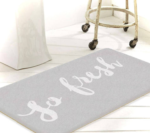 So Fresh And So Clean Clean, Bathroom Rug, Bath Mat, Grey Bath Mat