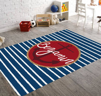 Nursery Rug Boy, Nursery Rug Girl, Nautical Nursery Decor, Nautical Nursery Rug, Anchor Rugs, Beach Nursery Decor, Girl Nautical Nursery