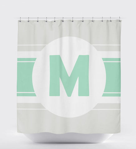 Shower Curtain Monogram, Bathroom Art Decor, Shower Curtain Grey, Custom Shower Curtain
