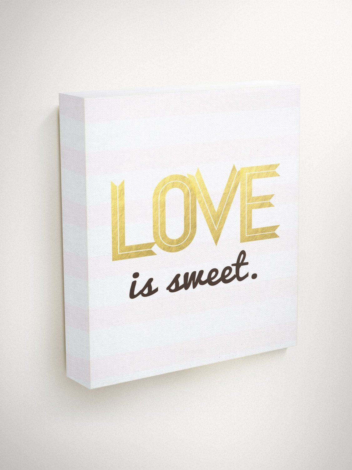 Love is Sweet Sign, Dessert Table Decor, Wedding Centerpieces For Tables, Wedding Favors, Gold Love Sign, Gold Wedding Signs, Wedding Wall