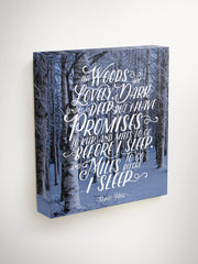 Miles to Go Before I Sleep, Robert Frost Quote, Hanging Canvas, Canvas Art Quote, Wall Art, Canvas Quote, Hanging Art, Motivational Canvas