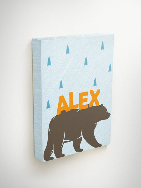 Bear Canvas, Bear Art, Canvas Name Art, Canvas Nursery Art, Bear Nursery Decor, Custom Canvas Art, Custom Name Art, Custom Nursery Decor