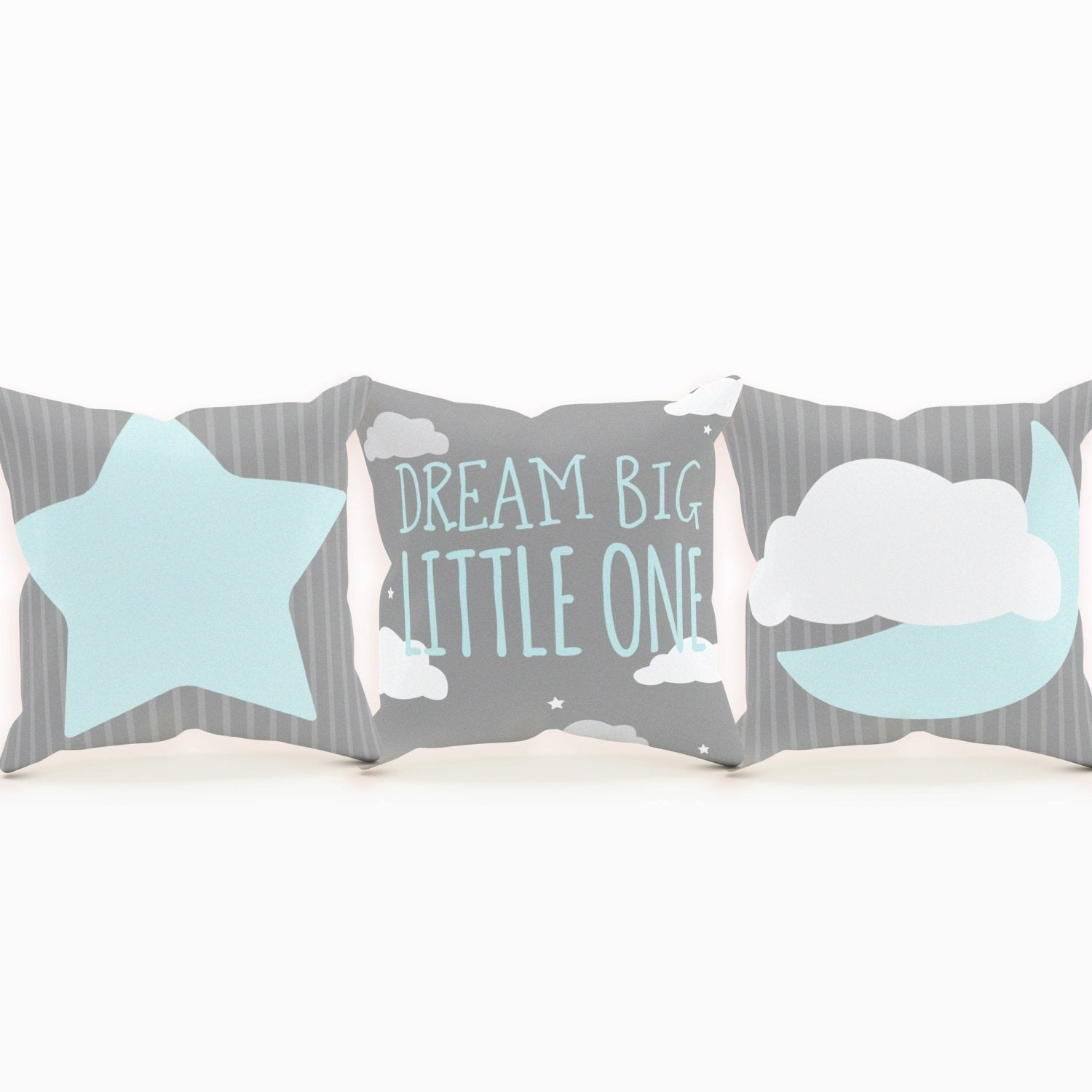 Dream Big Little One Pillow, Moon and Stars Nursery, Moon Nursery, Nursery Pillow