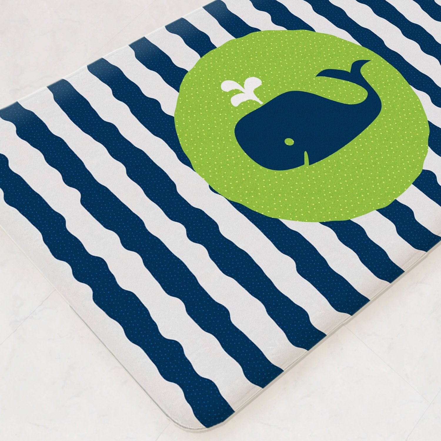 Whale Bath Mat, Whale Bathroom Decor, Fish Bathroom Decor, Ocean Bathroom Decor