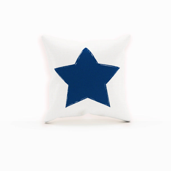 Star Pillow, Pillow Set, Blue Throw Pillows, Gifts For Friends