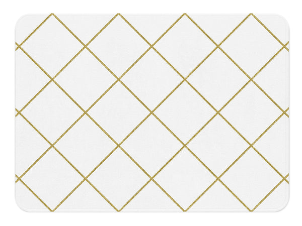 Gold Rug, Diamond Rug, White And Gold Decor, Gold Nursery Decor