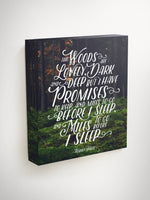 English Teacher Gift, Christmas Gifts for Teachers, Robert Frost, Robert Frost Quote, Miles to Go, Poem, Canvas Quote Art, Teacher Gift
