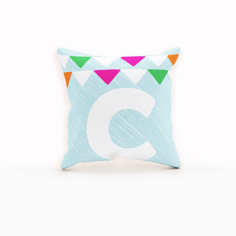 Throw Pillows Blue, Bunting, Nursery Pillow Cover, Beautiful Pillow
