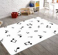 Music Gifts, Music Rug, Music Notes Rug, Gift for Granddaughter, Music Room Decor, Custom Music Gift, Piano Rug, Music Classroom Decor