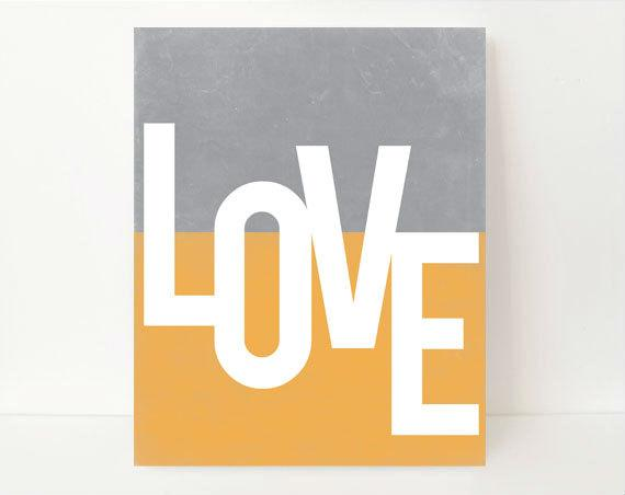 Love Typography, Love Print, Love Gifts for Him, Gifts for Husband, Gifts For Her,Modern Art, Modern Artwork, Love Wall Art, Love Artwork,