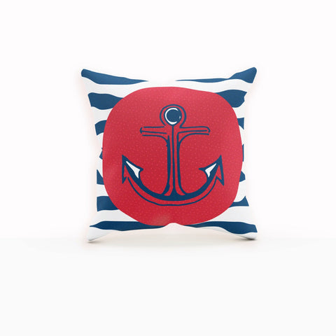 Anchor Pillow Cover, Baby Boy Gift, Sailor Baby Shower, New Mom Gift