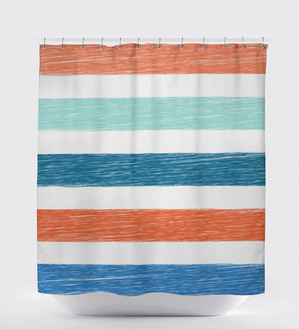 Kids Shower Curtain, Boys Shower Curtain, Beach Bathroom Decor, Colorful Shower Curtain