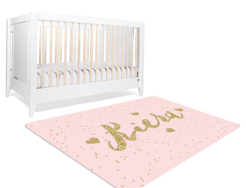 Zoe Pink And Gold Rug
