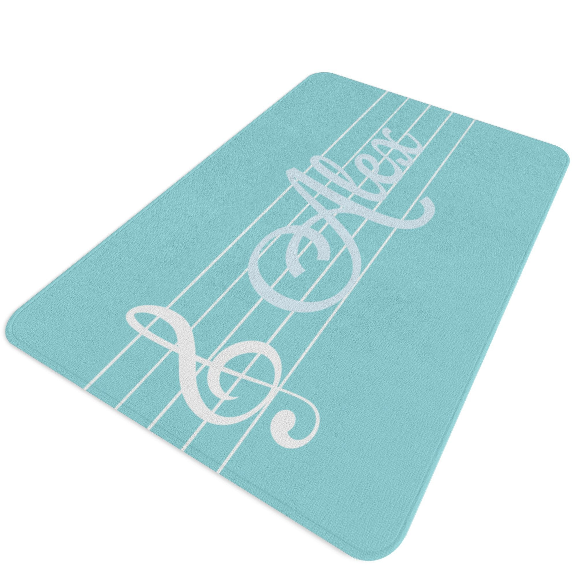 Music Rug, Music Notes Rug, Music Room Decor, Personalized Rug, Music Decor, Piano Rug, Gift for Piano Player, Gift for Piano Teacher