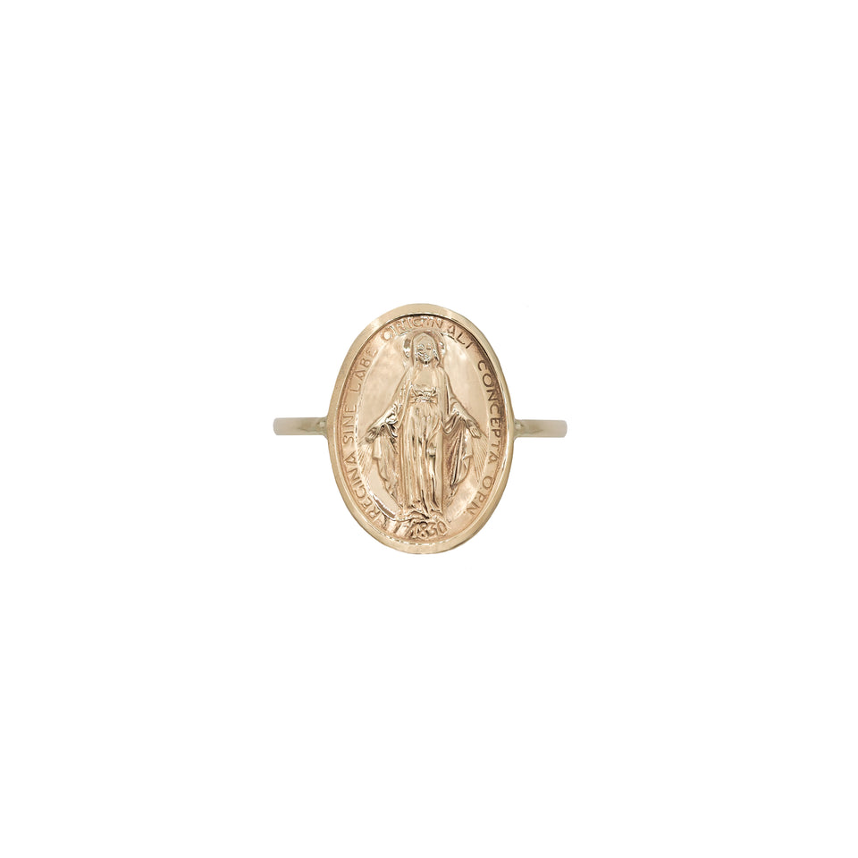 Mother Mary Charm Ring