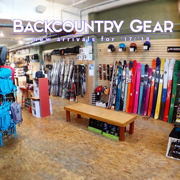 New Backcountry Gear for the '17/'18 Season