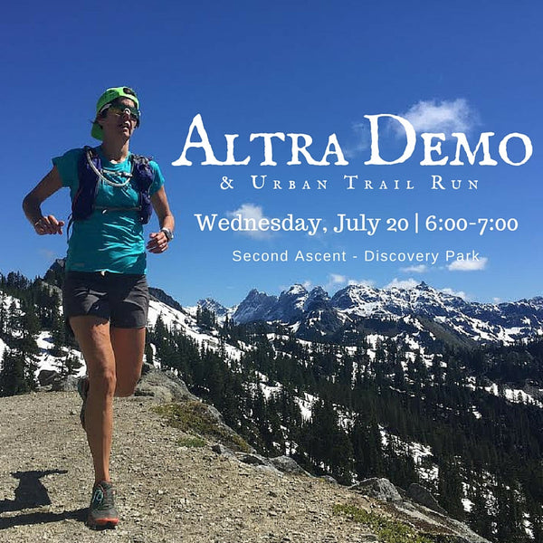 Altra Demo Day & Urban Trail Run with Cascade Endurance