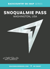 Snoqualmie Pass BC Ski Map