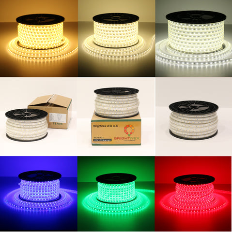 120V Single Color Strip Lights