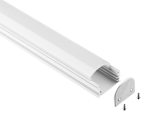 LED Profile Large HousingAluminum Arc Cover, Aluminum Channel for Strip Lights Best for 12V, 24 and 110V Strip light