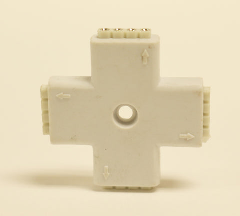 Strip Light Connector (Cross-shaped) Female 4-pin Splitter for RGB LED Strip Lights