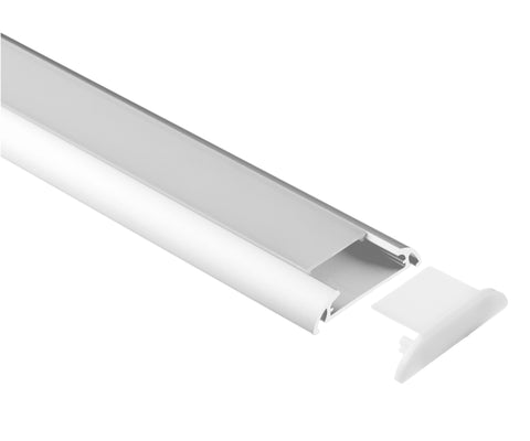 LED Profile 8' Flat Wide