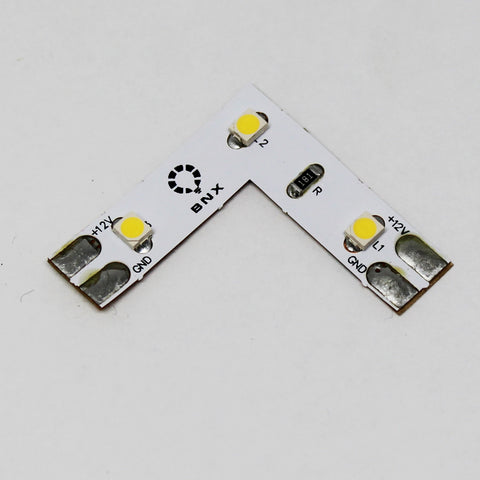 24V Strip Light L Shape Connector 3.5W/ft