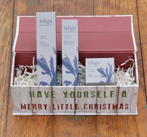 holiday gift set, skincare, men