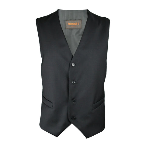 Vest BB0807 Black Slim Fit (Wool)