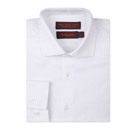 Business Shirt BL1609 Thin stripes White