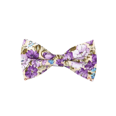 Pattern ABT15026 Violet Yellow Flowers / Bow Tie