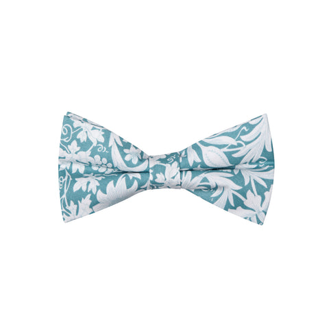 Pattern ABT15027 Turquoise White Flowers / Bow Tie