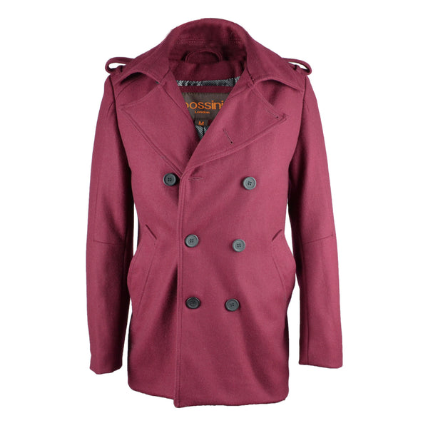 Overcoat BRO903 Burgundy